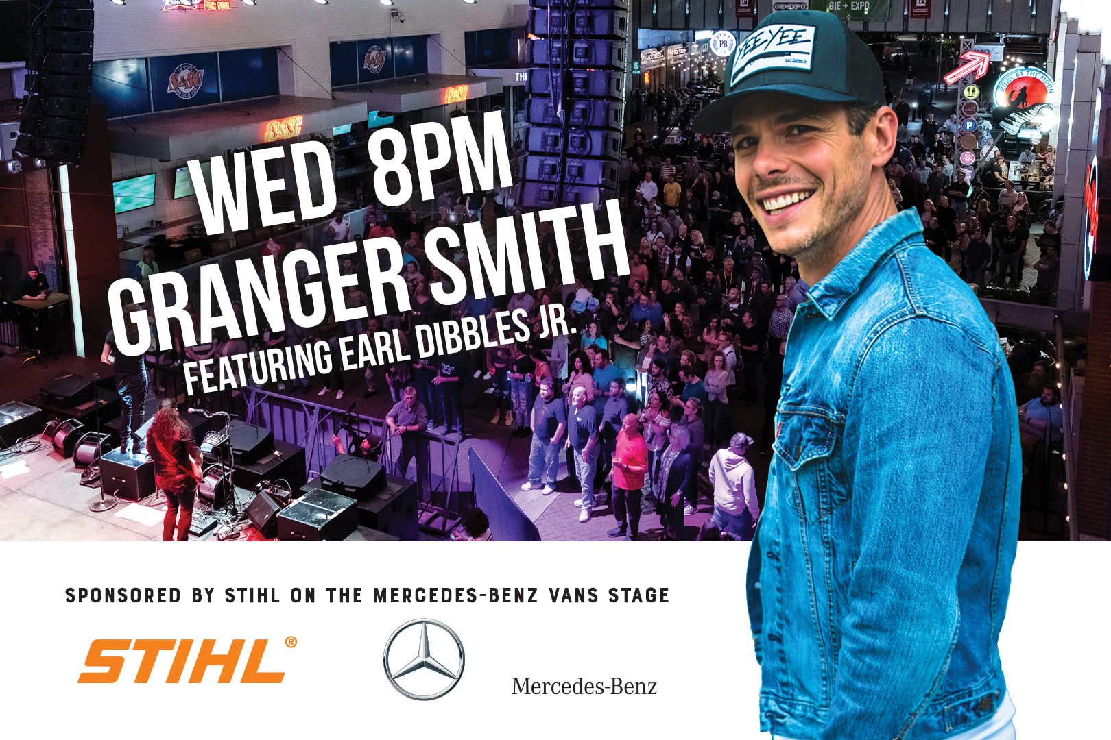 Free Concert at 4th Street Live: Granger Smith featuring Early Dibble Jr., Hardscape North America